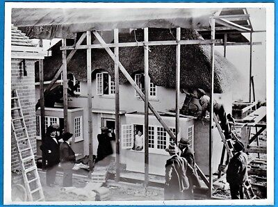 vintage photo mini house build in Wales for princess queen Elisabeth II UK 1932