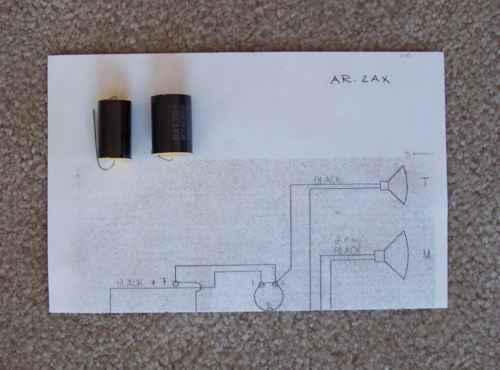 ACOUSTIC RESEARCH AR-2AX NEW CROSSOVER CAPACITORS - ALSO AR-2A