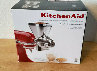 KitchenAid KGM Metal Grain Mill ATTACHMENT Wheat Corn Oats Grinder Flour Mill
