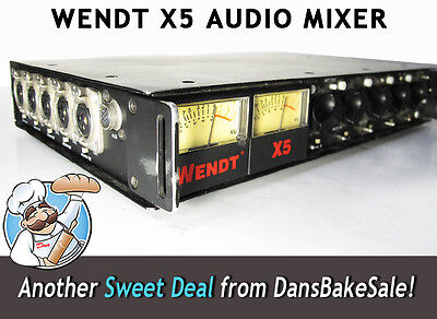 Wendt X5 5 Channel Portable Field Audio Mixer - Durable for Demanding Recording!