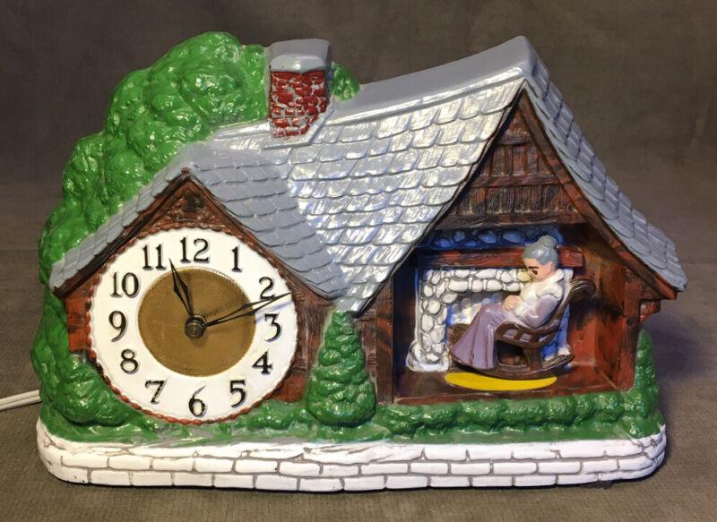 A Haddon Original HOME SWEET HOME Rocking Granny Model 30 Animated Motion Clock