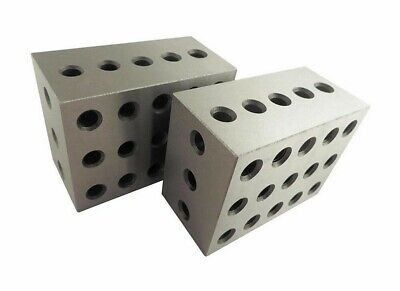 Set Of 2 PC 2 3 4 Metal Blocks 23 Holes Milling Drilling Machining Precision