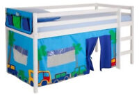 Cabin bed with play tent