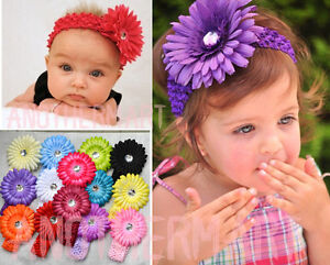 14-Style-Infant-Baby-Girl-Crochet-Headband-Flower-Hair-Clips-Pink-White-Purple