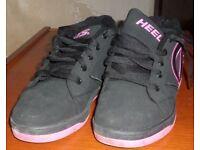 Heelys Propel 2.0 Kids/Adult Size 5 Wheel Shoes/Trainers/Skates- Black/Hot Pink