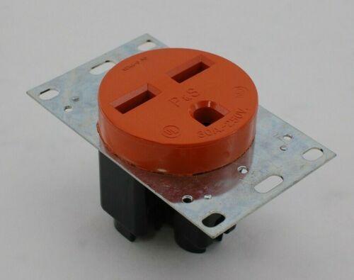 Pass & Seymour NEMA 6-30 Orange Power Outlet