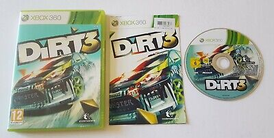 DIRT 3 THREE XBOX 360 GAME DRIVING RACING CARS GAME GIFT PRESENT COMPLETE
