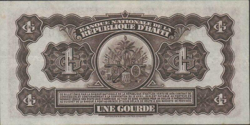 Haiti  1  Gourde   ND. 1950   P 174  Series  WC  Rare Circulated Banknote ESS
