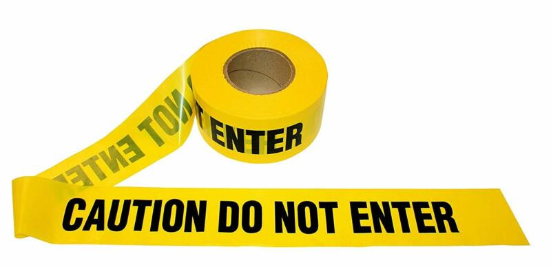 CAUTION DO NOT ENTER Tape 3in x 1000ft x 2mil Yellow/Black - 8 Rolls Merco M234