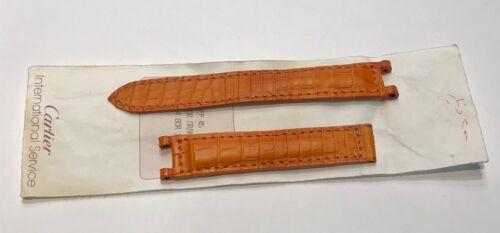 Strap / bracelet de montre cartier pasha femme orange @ 15,4 mm @ cartier strap
