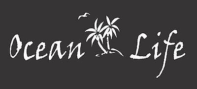 Ocean Life Palm Trees Bird 149  Die Cut Vinyl Window Decal/Sticker for Car/Truck