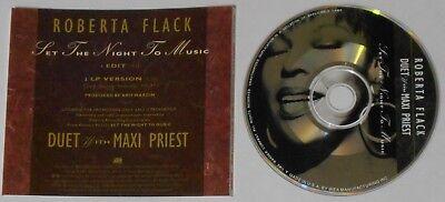 Roberta Flack Maxi Priest  Set the Night to Music   U.S. promo cd  (Maxi Priest Set The Night To Music)