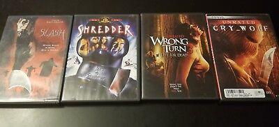 Lot Of 4 Slasher/Thriller Horror Dvds Cry Wolf Wrong Turn 3 Shredder Slash (BX1)