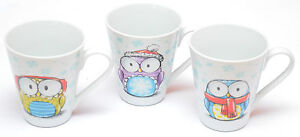 Ritzenhoff & Breker Becher Kaffeebecher Tasse Teetasse Eule Eulen Porzellan Set