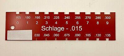Locksmith Pin Gauge For Schlage