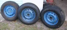 ht EARLY HOLDEN / TRAILER WHEELS x 3 Chinderah Tweed Heads Area Preview