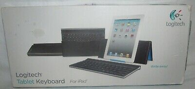 New Logitech Tablet Bluetooth Keyboard & Stand iPad 2 3 3rd 4th Generation Mini