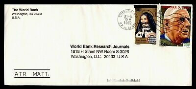 DR WHO 1992 BENIN OVPT COTONOU AIRMAIL TO USA  g19902