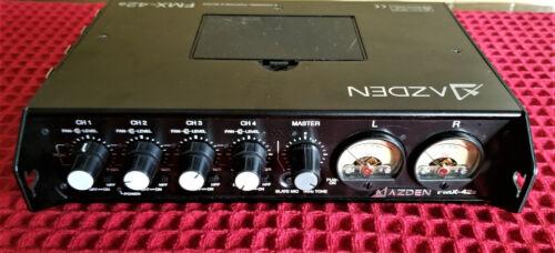 Azden FMX-42a 4 cannel portable audio mixer