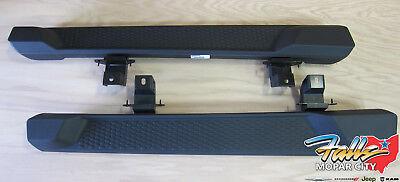 18-19 Jeep Wrangler JL 2 Door Black Molded Running Board Side Steps Mopar OEM  ()