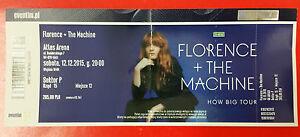 FLORENCE AND THE MACHINE - HOW BIG TOUR Ticket 12.12.2015 - ATLAS ARENA ŁÓDŹ - <span itemprop=availableAtOrFrom>Gdynia, Polska</span> - FLORENCE AND THE MACHINE - HOW BIG TOUR Ticket 12.12.2015 - ATLAS ARENA ŁÓDŹ - Gdynia, Polska