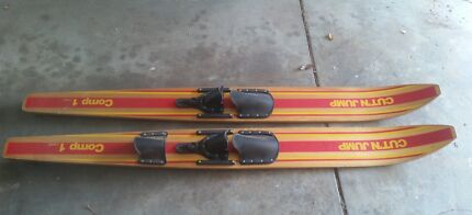 water ski retro wood cool