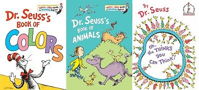 Coloring Book Of Animals (3 PACK Dr. Seuss Hardcover Book of Animals/Book of Colors/Oh the Thinks You)