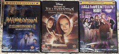 Halloween Town Movie Set (DISNEY HALLOWEENTOWN 1,2,3,4 DVD COMPLETE COLLECTION SET NEW! II, RETURN TO)