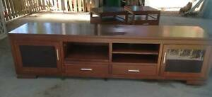 TV Unit and two matching side tables
