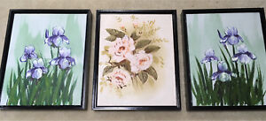 """3 oil on canvas pictures 9""""x11"""""""