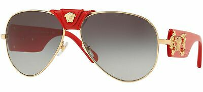 Versace men Sunglasses VE2150Q 100211-62 -Red Frame, Grey Gradient lenses