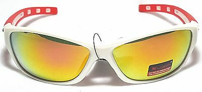 XLoop Men's Sunglasses Plastic Frames Multi Color Mirrored Lens Wrap Rectangle