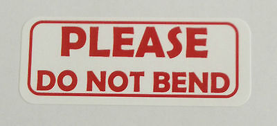 Please Do Not Bend Peel Off Stickerslabels - 1 X 2 58 - 300 Total