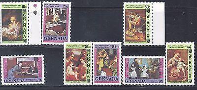Grenada SC# 1222 - 1229 Art Paintings  MNH