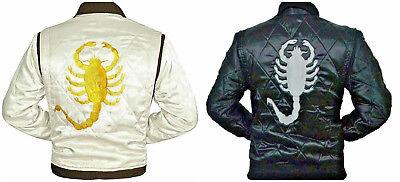 Drive Movie Ryan Gosling Slim Fit Trucker Scorpion Mens Satin Jacket - BEST