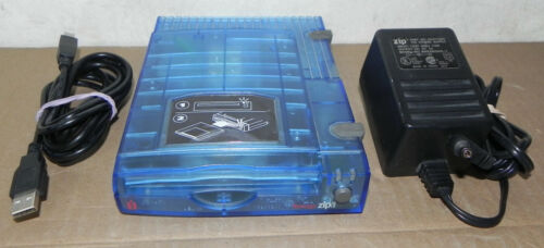ZIP Z100USB 100 MB DISK DRIVE WORKING COMPLETE IOMEGA EXTERNAL PC