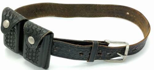 "TEX Shoemaker 208 Double Drop Down Speed Strip Holder Belt 34"" x 1 3/8"" Black"