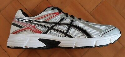 Asics Patriot 7 White/Black/Fiery Red T4D1N0190 Mens Trainers lace ups Synthetic