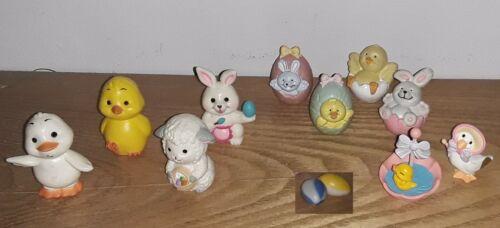 Vintage Miniature Mini Easter Lot Plastic Russ Berrie Lamb Chicks Hallmark Duck