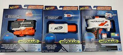 Nerf Upgrade Kit Set 3 Grip Blaster, Targeting Light Beam, Tactical Light Hasbro