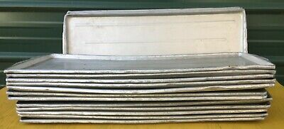 Lot 15 Aluminum 30 X 12 Pans Sheet Tray Meat Bakery Deli Platter