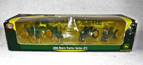 John Deere Tractor Series #1 Dated 2004 Set of 4 Miniature Tractors New In Box