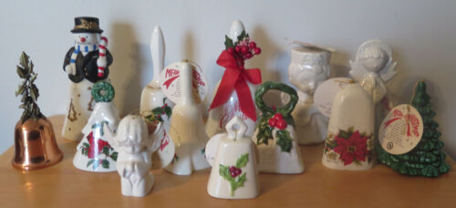 Christmas Bell lot Snowman Angels Holly Tree Westmoreland Lefton Harter Bank