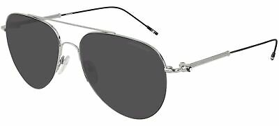 Gafas de Sol Mont Blanc MB0037S Silver/Grey 59/17/145 para hombre