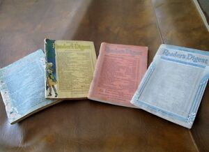 Four Vintage Reader's Digest Magazines - 1942, 1943, 1944