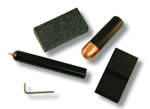Economy Flintknapping Kit - pressure flaker, abrader, copper bopper, hand pad