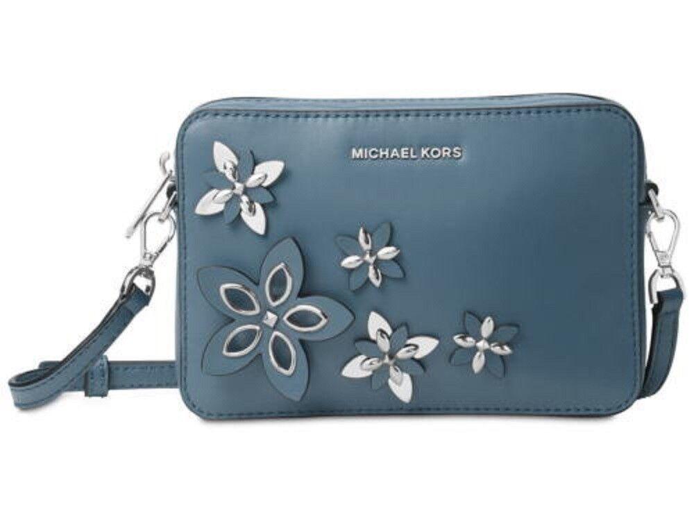 Michael Kors Flowers Pouches Medium Camera Bag Cross Body NW