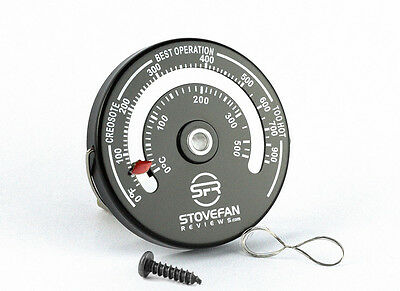 SFR Magnetic Stove Flue Pipe Thermometer -  Temperature Gauge for Wood Burner.