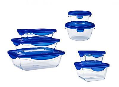 Pyrex Cook & Go 7 Piece Set Storage Cookware Dish Roaster New