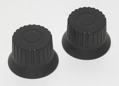2 Leica Dm-irbe Microscope Black Focus Knobs 6mm Bores Also Rxe. Ire2 Others